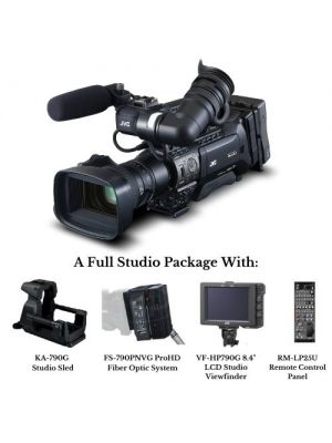 JVC GY-HM890RCHE Shoulder-mount/studio live streaming ENG HD camcorder with Studio Package